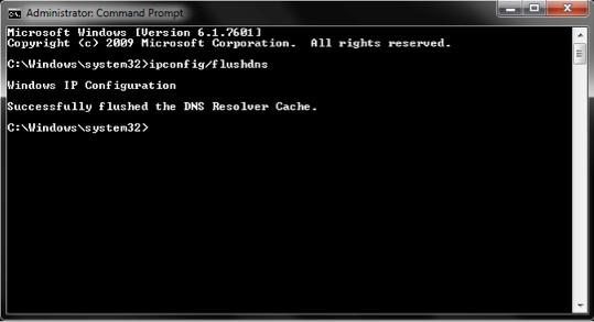 Flush The DNS Cache