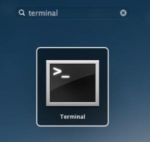 Launchpad Terminal Mac OS X