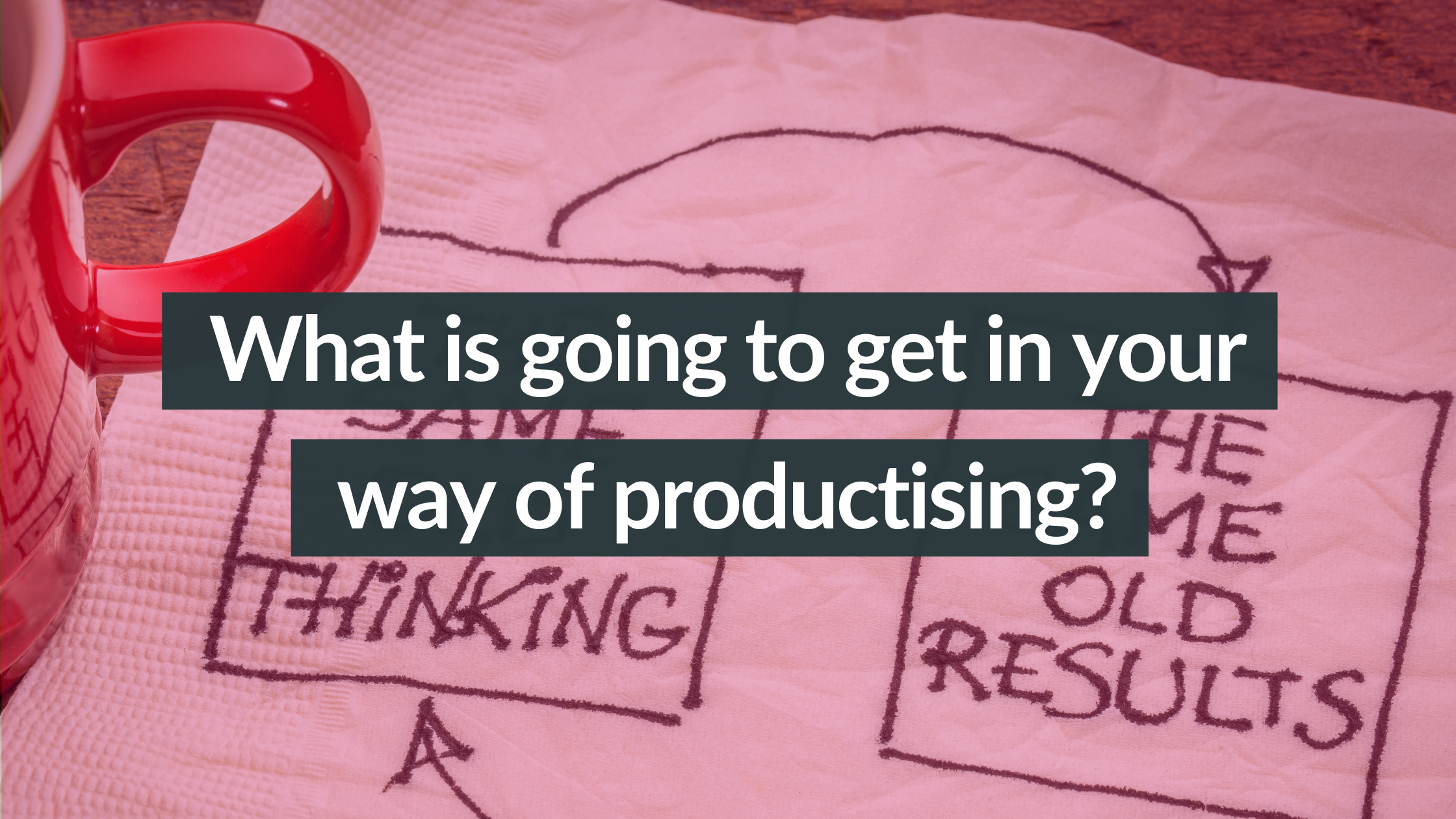 What is going to get in your way of productising