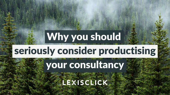 Why you should seriously consider productising your consultancy