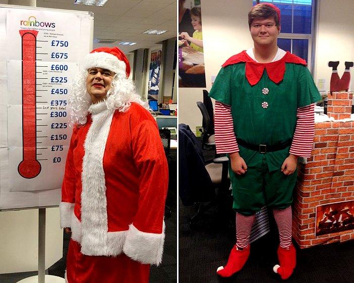 Morrison Utility Elf and Mrs Santa