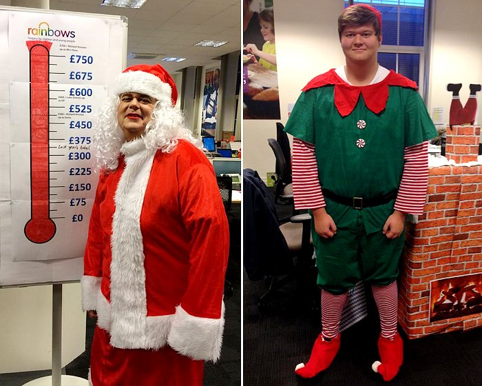 Morrison Utility Elf and Mrs Santa